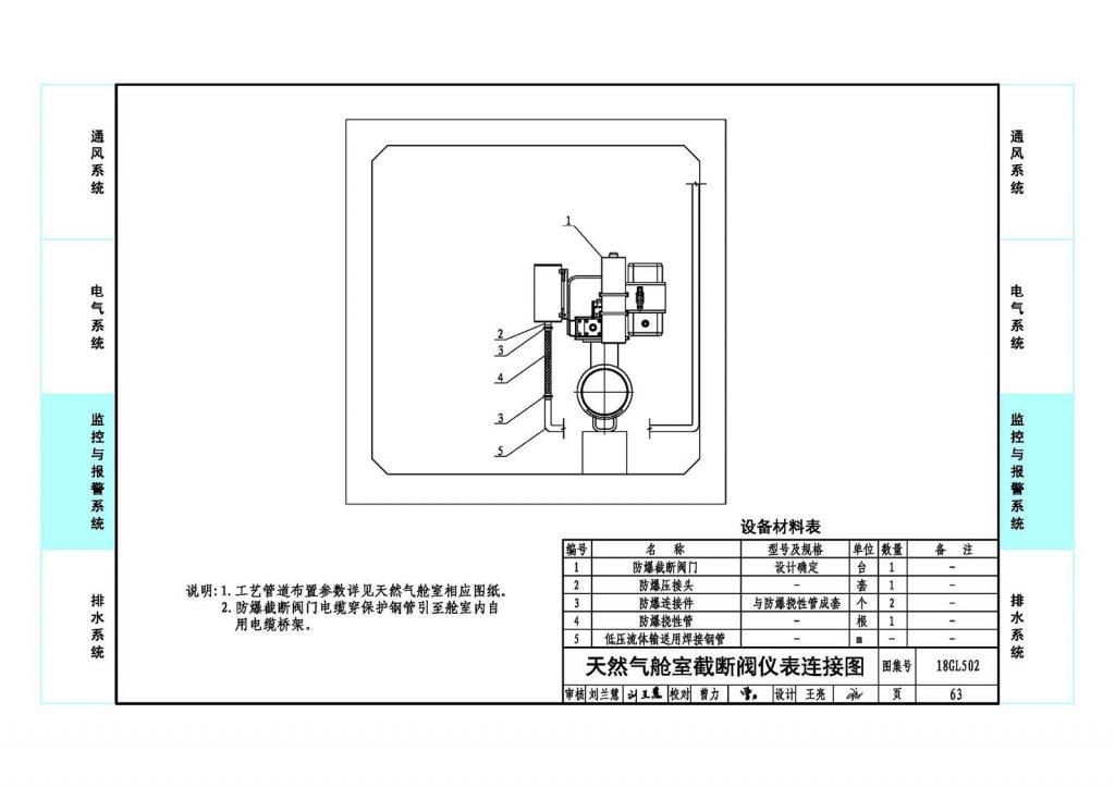 天然气舱室截断阀仪表连接图